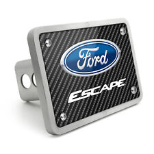 Ford Escape Black Carbon Fiber Texture Plate Billet 2 inch Tow Hitch Cover