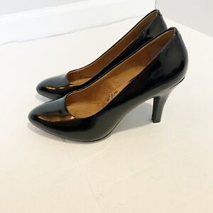 Sofft Women's Size 9W Pump Patent Black Leather Pointy Toe NWOT