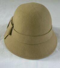 Hawkins Ladies 100% Wool Felt Cloche Hat Wide Band & Bow Downton Abbey - 3 Cols.
