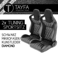 2x coche asiento deportivo asiento deportivo racingseat negro cuero sintético microfibra Diamond