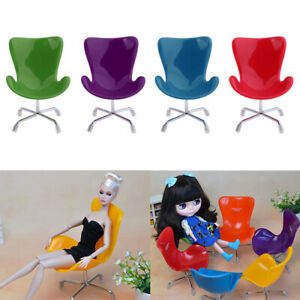 4 Pieces 1:6 Doll Swan Chair For Blythe   Dolls Life Scenes Decor