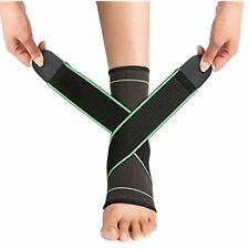 Ankle Braces With VANWALK Active Support Compression Sleeve Adjustable Strap For