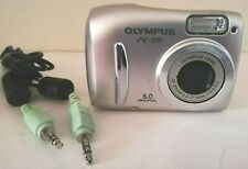 OLYMPUS FE Series FE-115 Silver 5.0MP Digital Camera - TESTED, WORKING GREAT!