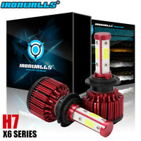 CREE H7 4-Sides LED Headlight Kit 2000W 300000LM Hi-Lo Beam Bulb 6000K White Car