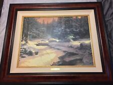 Thomas Kinkade Winters End Canvas And Frame Included