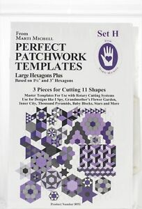 Marti Michell Perfect Patchwork Template-Set H - Large Hexagon Set 3/Pkg
