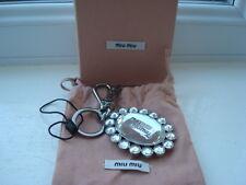 Gorgeous Authentic PRADA / Miu Miu Silver Bling Keyring / Bag Charm BNIB