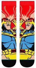 X-Men Cyclops Comic Book Stance Socks Marvel Comics Large Men's 9-12