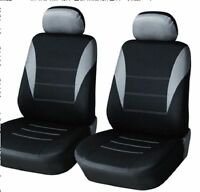 2x Sitzbezüge Schonbezüge Schonbezug Neu Grau für Peugeot Renault Seat Skoda