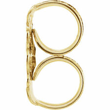 NEW Real 10k Yellow Gold Ultra-Lightweight Friction Earring Back with 4.2 mm Pad