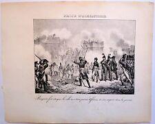 Lithographie, XIXe, La prise d'Alexandrie par Napoléon