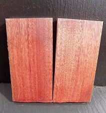 African Padauk  book matched Knife scales/Knife making