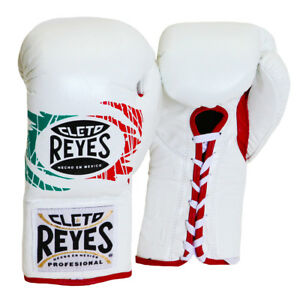 Cleto Reyes Official Lace Up Competition Boxing Gloves - Mexican Flag