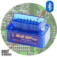 ELM327 valise diag DTC OBD2 scan lecteur code erreur voyant moteur bluetooth