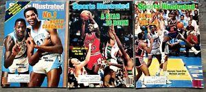 1983 1984 SPORTS ILLUSTRATED MICHAEL JORDAN 1ST 3 COVERS LOT NCAA NBA USA RARE