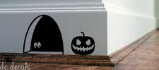MOUSE HOLE & HALLOWEEN PUMPKIN Wall Art Sticker Decal Mice Home Skirting Board