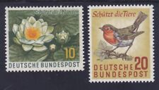 Germany 773-74 Mnh Og 1957 European Robin & Water Lily Animal Plant Protection