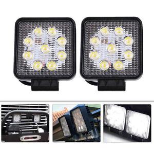 2X 400W LED Arbeitsscheinwerfer 12V 24V Weiß Offroad Scheinwerfer SUV Boot LKW