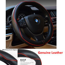 1Pcs 38cm Real Leather Car Auto Steering Wheel Cover Anti-slip Sleeve Protector (Fits: Chrysler Concorde)