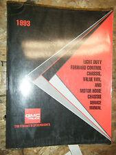 1993 GMC LGHT DUTY FORWARD CONTROL TOPKICK KODIAK MOTOR HOME SERVICE MANUAL