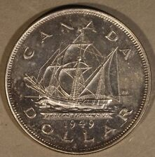 1949 Canada Silver Dollar Light Circulated Sharp Coin   ** FREE U.S. SHIPPING **