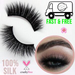 False Eyelashes Fluffy Mink Effect Pairs Lashes Glam Cruelty Free UK