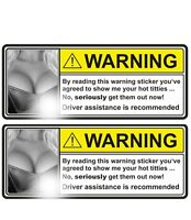 2 x Warning Aufkleber Sticker Auto Tuning OEM JDM Oldschool Spass Retro Motorrad