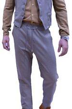 Pantaloni a quadri  marrone Uomo slim fit Casual con elastico Modello Capri