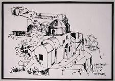 Griechenland Santorini Thira, Serigraphie von R.Heckl