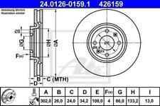 1X BRAKE DISC ATE - TEVES 24.0126-0159.1