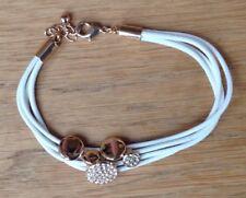 Avon White and Gold Bracelet