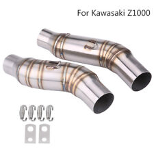 51mm Motorcycle Exhaust Muffler Middle Link Pipe Connector For Kawasaki Z1000