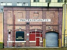 """* O Scale Scratch Built """"Brewery"""" industrial Building Front/Flat, MTH Lionel *"""