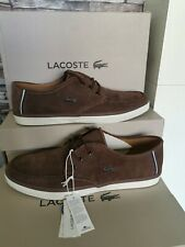 MEN'S LACOSTE SEVRIN 6 DARK BROWN SUEDE SHOES SIZE UK 11