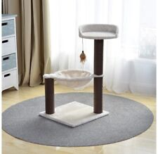 , Cat Tree Hammock Bed with Natural Paper Rope Scratching Posts and Teasing