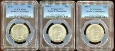 1946 PDS Booker T Washington Commemorative Half Dollar Set PCGS MS 65/66