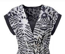 Aniston Kleid Sommerkleid Kimonokleid  schwarz-grau Neu Gr.42