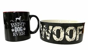 Dog Lovers Bundle Coffee Mug and Dog Bowl Stoneware Bowl