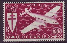 Oceanic insediamenti-sg167 MNH 1942 AIR 100F ROSSO