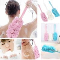 New.Shower Scrubber Loofah Sponge Bath Body Back Brush with Long