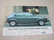 1975 MEXICAN VOLKSWAGEN CARIBE SALES BROCHURE..