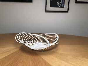 Alessi Trinity White Adam Cornish 2013 Metal Fruit Bowl Made in Italy