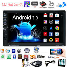 "Android 7.0 Touch Car Stereo Radio 7"" 2 DIN GPS Nav MP5 Player Quad Core 3G WIFI"