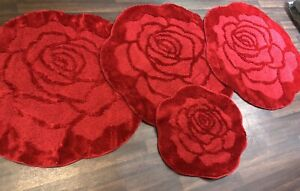 ROMANY WASHABLE TRAVELLER MATS SETS NON SLIP SUPER ROSE RUGS RED GYPSY X MATS X