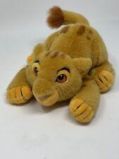 """Disney Store Plush  Lion King Crouching Simba Cub Stuffed Animal 8"""" Soft Toy"""