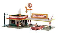 """N Woodland Scenics """"Pre-fab"""" kit 5208 * D's Diner * NIB"""