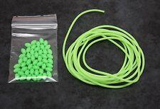 Fishing beads X50 Oval + 2M Lumo Tube, Luminous Glow Tubing, Bream Whiting etc