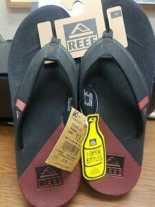 Reef Fanning Low Flip Flop Sandal for Men, Size 13 - Black/Rust