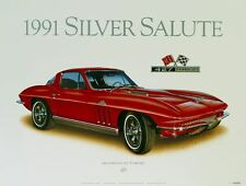66 CORVETTE CLASSIC CAR POSTER AUTOMOTIVE FINE ART PRINT OR GICLEE OF PAINTING!