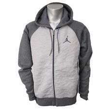 Nike AIR JORDAN 3 FLEECE MEN'S FULL ZIP HOODIE DARK GRAY MEDIUM MED NEW  $100